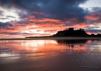 bamburgh castle winter sunrise