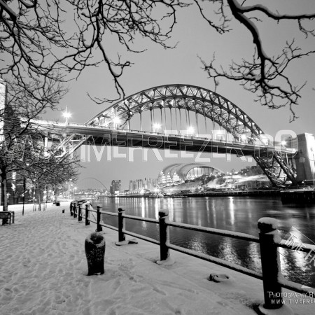 Tyne Bridge in Snow