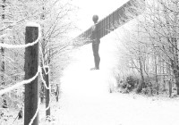 Angel of the North Snow Photo