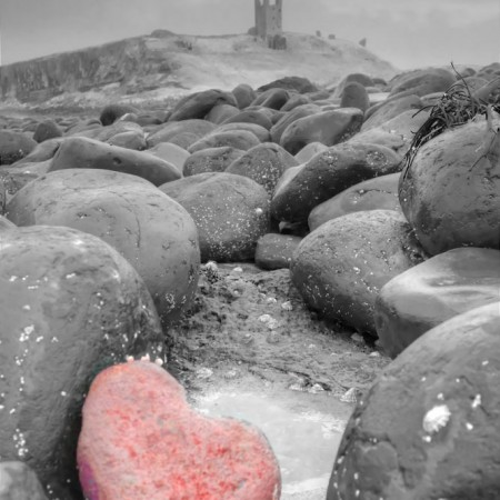 Dunstanburgh Castle Heart Photo