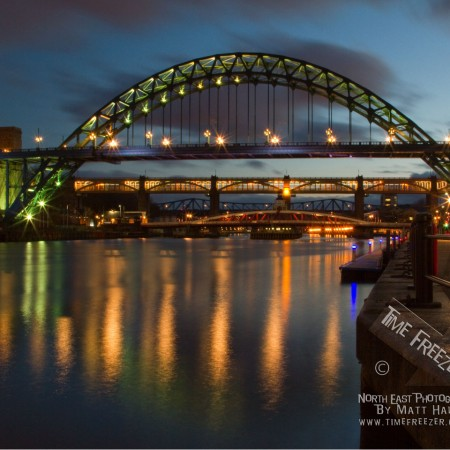 Newcastle Tyne Bridge at Night Photo