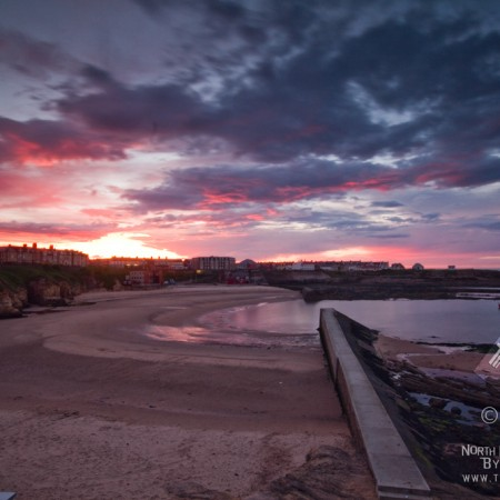 Sunset over Cullercoats Bay