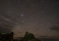 Lindisfarne Castle Holy Island under the stars