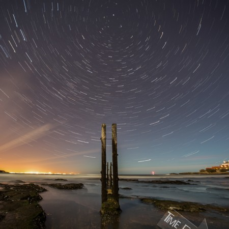 Star Trails at St Marys Lighthouse Photo