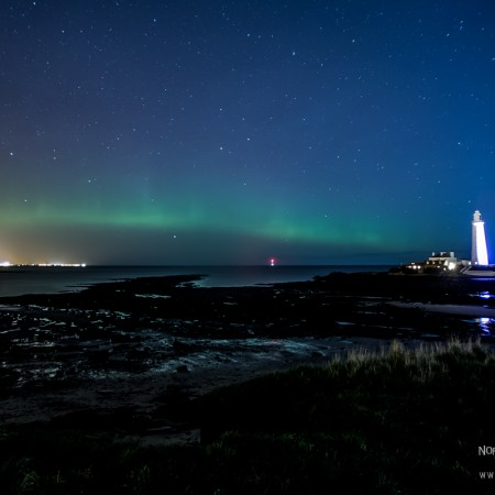 Aurora Borealis at St Marys Lighthouse